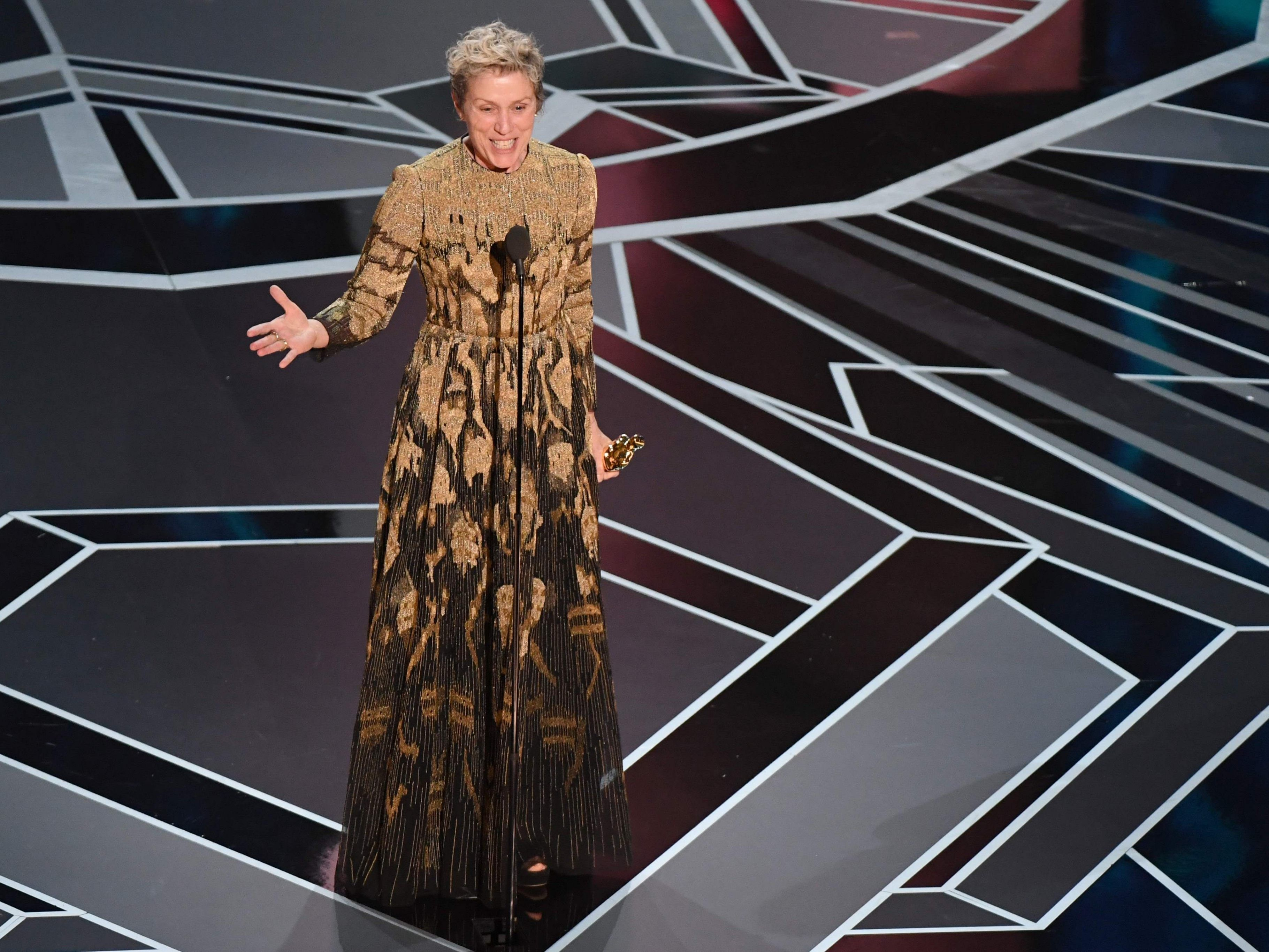 "Frances McDormand wurde für ihre Rolle in ""Three Billboards outside Ebbing, Missouri"" mit dem Oscar als beste Schauspielerin ausgezeichnet."