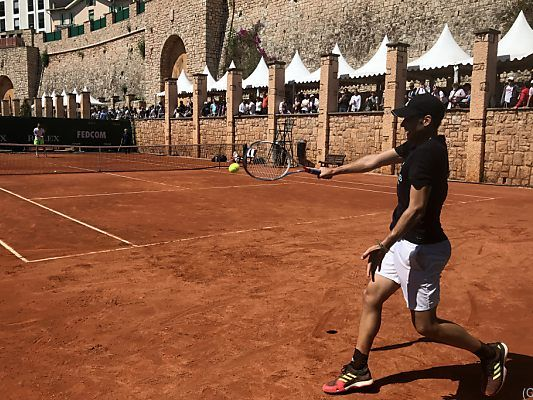 Thiem beim Training in Monte Carlo