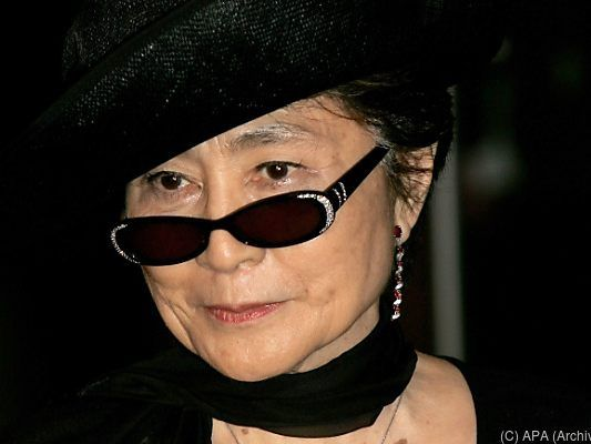 "Yoko Ono besichtigte ""Peace is power"""