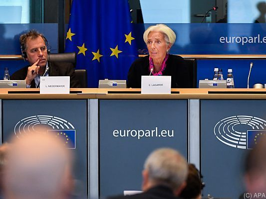 Christine Lagarde im EU-Parlament in Brüssel