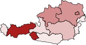 Coronavirus Karte für Österreich