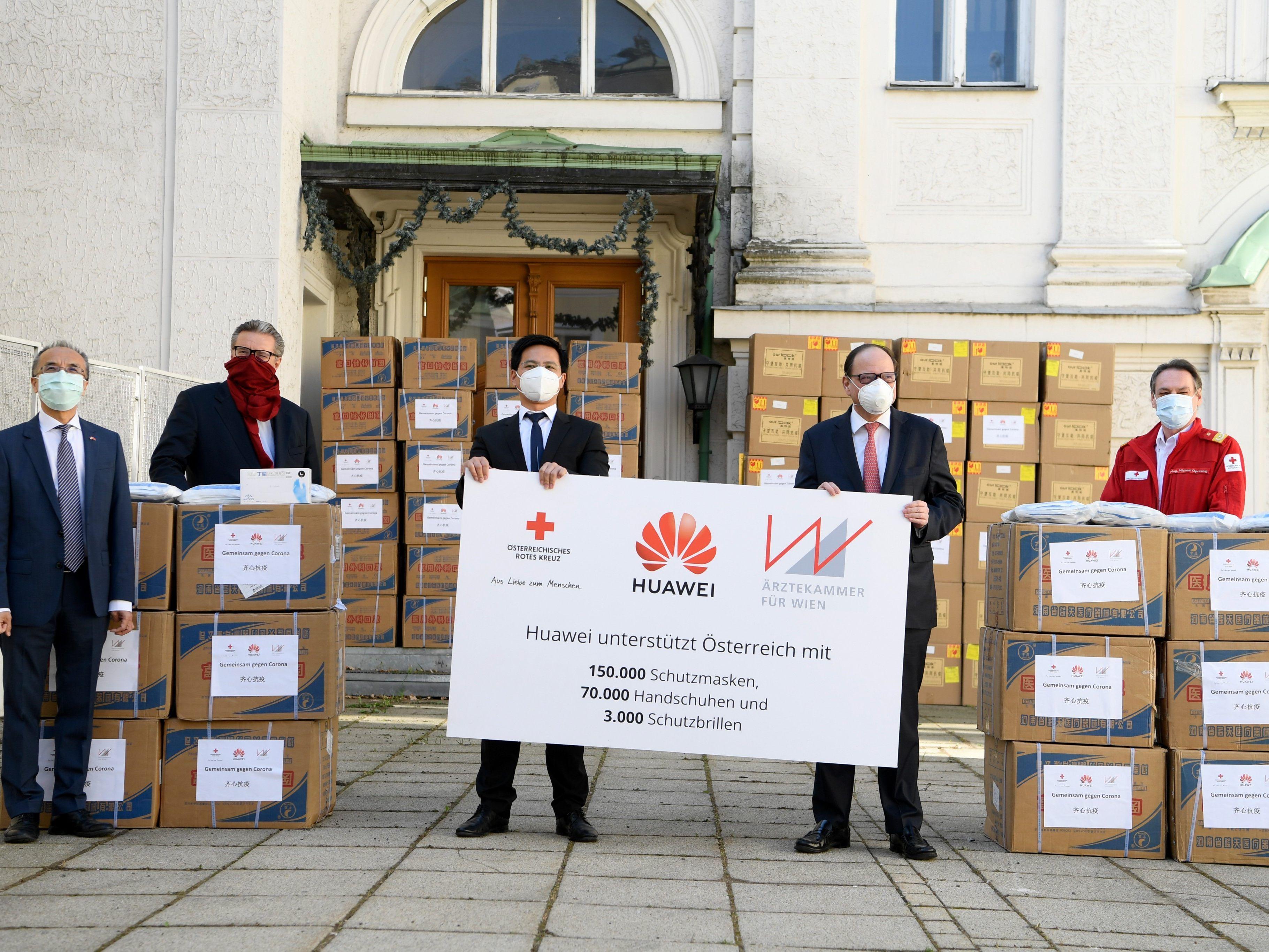 Huawei spendete Schutzausrüstung für Österreich - Coronavirus Wien ...