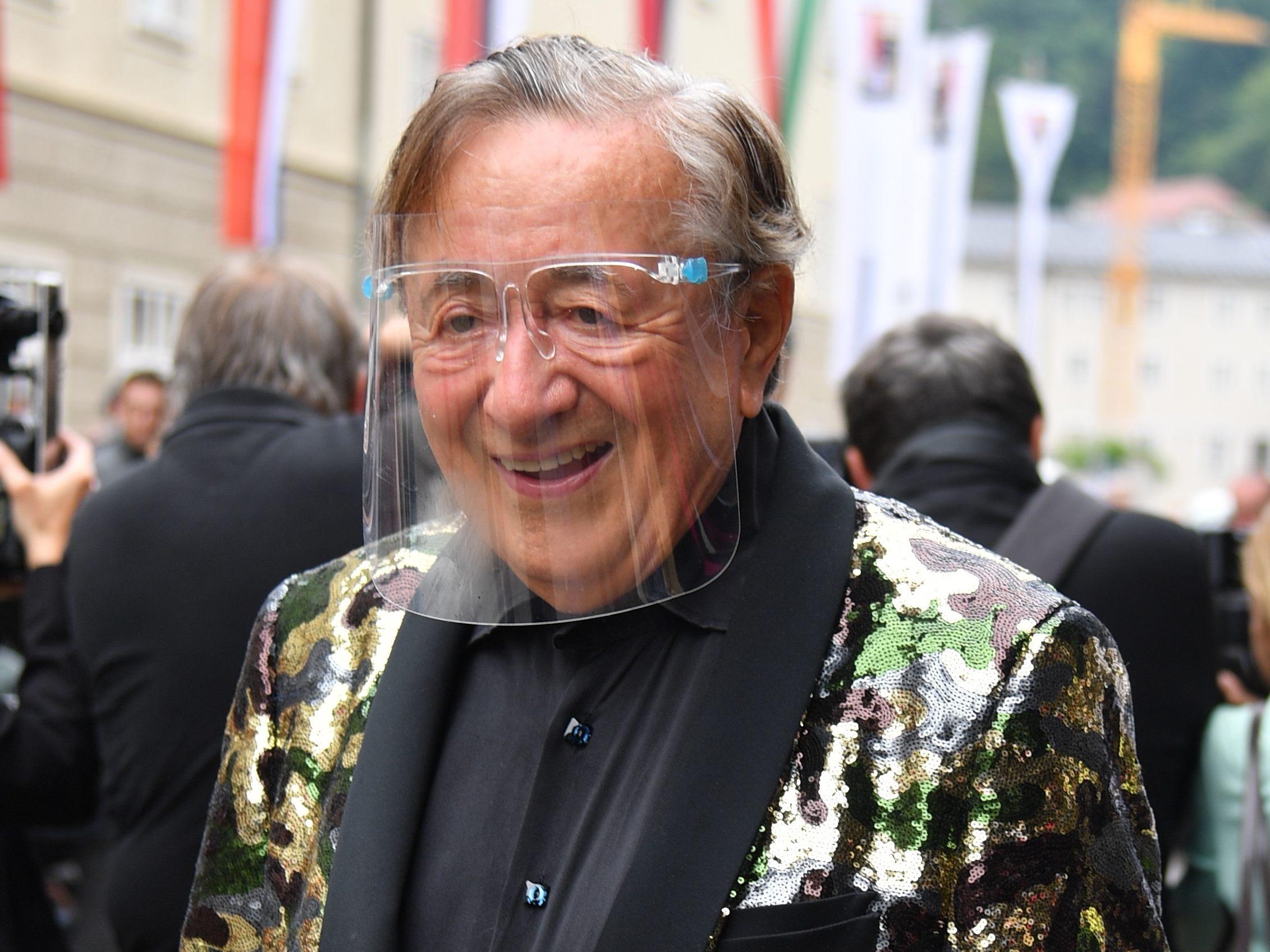 Richard Lugner nach Sturz mit Knochenbruch in Wiener Spital