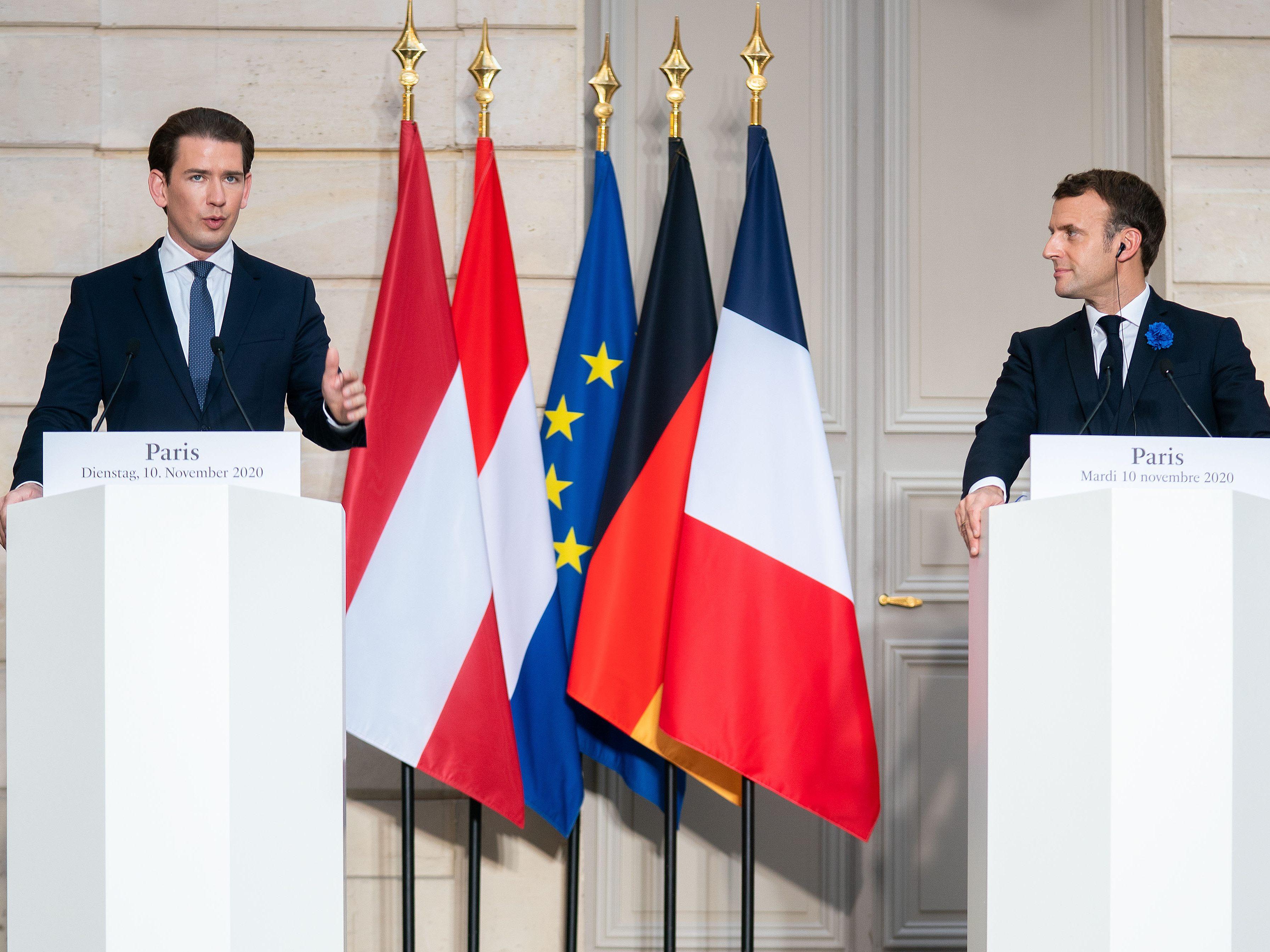 Kampf gegen Terror: Kurz trifft Macron in Paris