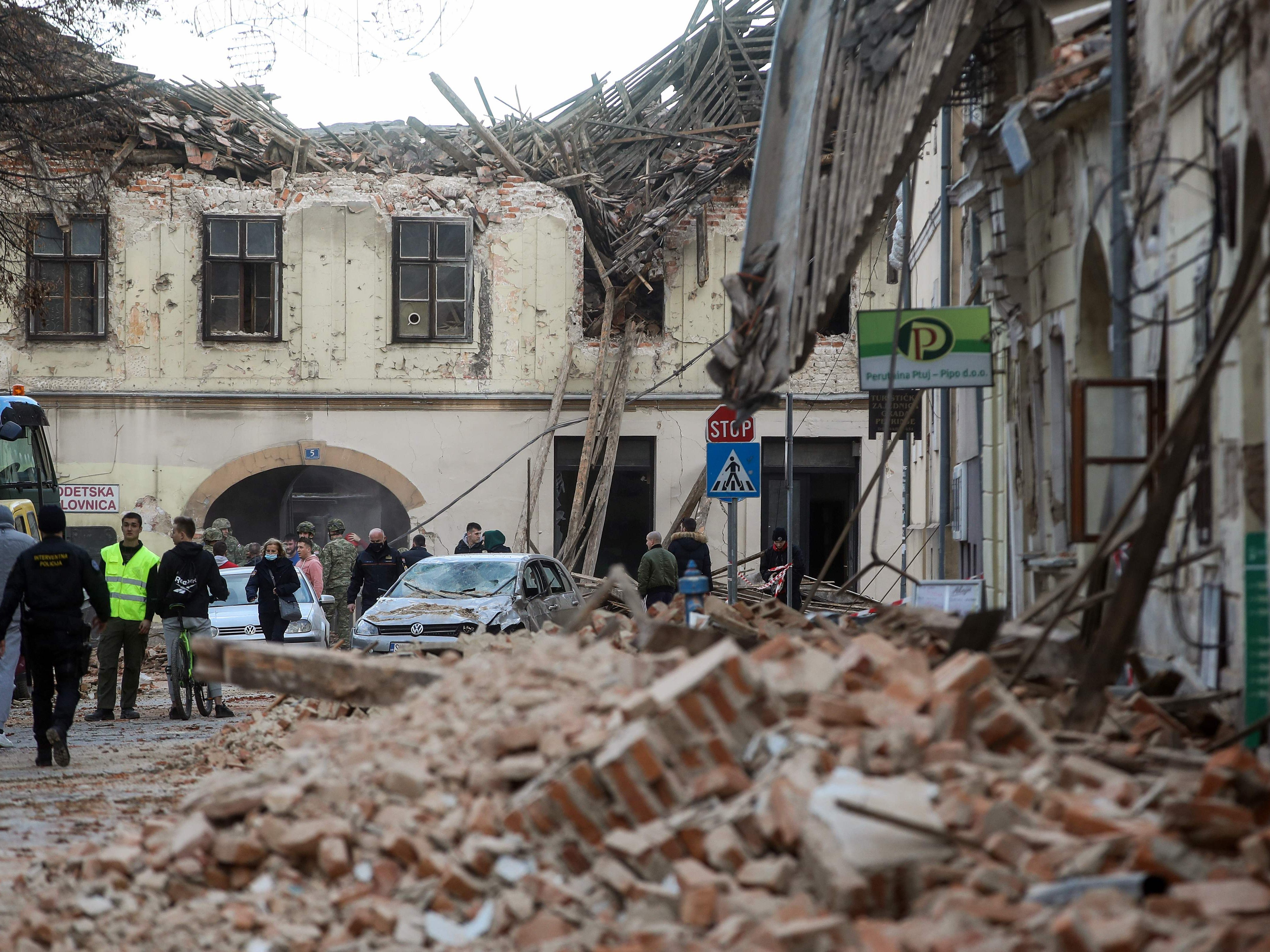 Erdbeben Kroatien / Hu3sye A3k3gcm - Es bleibt nicht ...