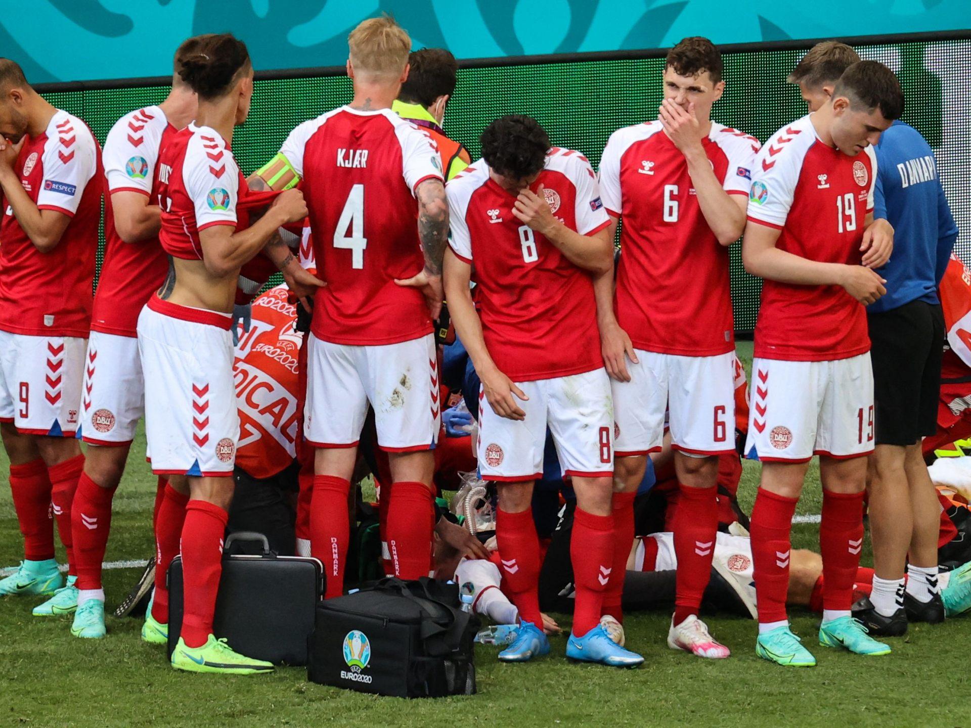 EURO 2021: Notfall bei Dänemark-Star Eriksen - Fußball-EM ...